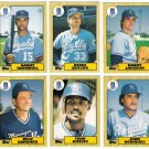 1987 Topps Traded Kansas City Royals Team Set-6 Cards