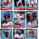 1988 Donruss Kansas City Royals Team Set-25 Cards