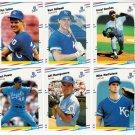 1988 Fleer Update Kansas City Royals Team Set-6 Cards