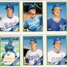 1988 Topps Traded Kansas City Royals Team Set-6 Cards