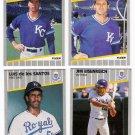 1989 Fleer Update Kansas City Royals Team-4 Cards