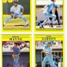 1991 Fleer Update Kansas City Royals-4 Cards