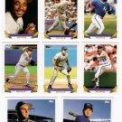 1993 Topps Kansas City Royals Team Set-27 Cards