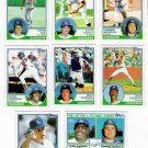 1983 Topps Los Angeles Dodgers Set-26 Cards