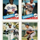 1985 Topps Traded Los Angeles Dodgers Set-4 Cards