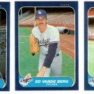 1986 Fleer Update Los Angeles Dodgers Set-3 Cards