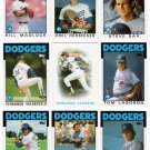1986 Topps Los Angeles Dodgers Set-32 Cards
