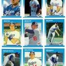 1987 Fleer Los Angeles Dodgers Set-26 Cards