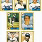 1987 Topps Traded Los Angeles Dodgers Set-7 Cards