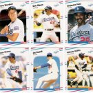 1988 Fleer Update Los Angeles Dodgers Set-6 Cards