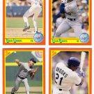 1990 Score Update & Rookies Los Angeles Dodgers-4 Cd