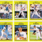 1991 Fleer Update Los Angeles Dodgers Set-6 Cards