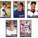 1991 Topps Traded Los Angeles Dodgers Set-5 Cards