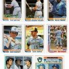 1982 Topps Milwaukee Brewers Team Set-28 Cards