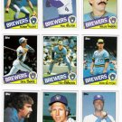 1985 Topps Milwaukee Brewers Team Set-29 Cards