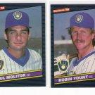1986 Donruss Milwaukee Brewers Team Set-29 Cards