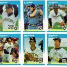 1987 Fleer Update Milwaukee Brewers Team-6 Cards