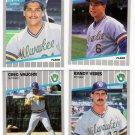 1989 Fleer Update Milwaukee Brewers Team-4 Cards