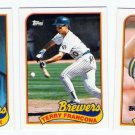 1989 Topps Traded Milwaukee Brewers Team-3 Cards