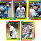 1990 Topps Traded Milwaukee Brewers Team Set-5 Cards