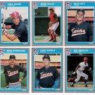 1985 Fleer Update Minnesota Twins Team Set-6 Cards