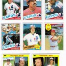1985 Topps Montreal Expos Team Set-31 Cards