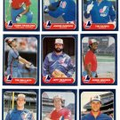 1986 Fleer Montreal Expos Team Set-24 Cards