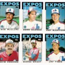 1986 Topps Traded Montreal Expos Team Set-6 Cards