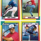 1990 Topps Traded Montreal Expos Team Set-4 Cards
