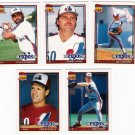 1991 Topps Traded Montreal Expos Team Set-6 Cards