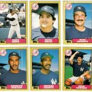1987 Topps Traded New York Yankees Team Set-6 Cards