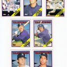 1988 Topps Traded New York Yankees Team Set-7 Cards