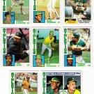 1984 Topps Oakland Athletics Team Set-32 Cards