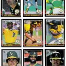 1985 Donruss Oakland Athletics Team Set-25 Cards