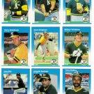 1987 Fleer Oakland Athletics Team Set-26 Cards