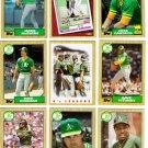 1987 Topps Oakland Athletics Team Set-30 Cards