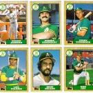 1987 Topps Traded Oakland Athletics Team Set-6 Cards