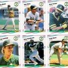 1988 Fleer Update Oakland Athletics Team Set-6 Cards