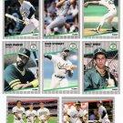 1989 Fleer Oakland Athletics Team Set-28 Cards