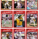 1990 Donruss Oakland Athletics Team Set-28 Cards