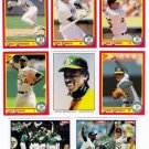 1990 Score Oakland Athletics-31 Cards