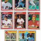 1985 Fleer Philadelphia Phillies Set-29 Cards