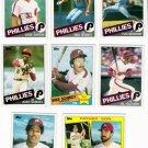 1985 Topps Philadelphia Phillies Set-32 Cards