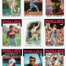 1986 Topps Philadelphia Phillies Set-30 Cards