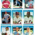 1987 Fleer Philadelphia Phillies Set-24 Cards