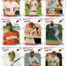 1988 Fleer Philadelphia Phillies Set-25 Cards