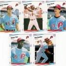 1988 Fleer Update Philadelphia Phillies Set-5 Cards