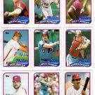 1989 Topps Philadelphia Phillies Set-32 Cards