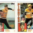 1984 Topps Traded Pittsburgh Pirates Team Set-2 Cards