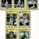 1985 Fleer Update Pittsburgh Pirates Team Set-7 Cards